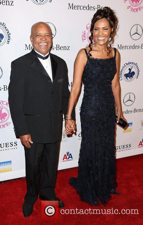 Berry Gordy and guest 26th Anniversary Carousel Of...