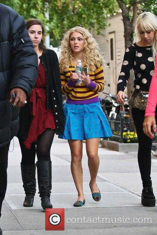 Seen on the set of 'The Carrie Diaries'...