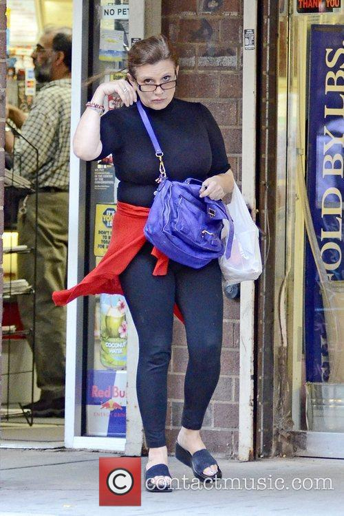 Carrie Fisher in NYC last year
