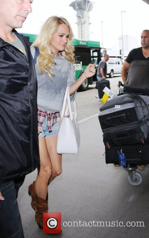 Carrie Underwood leaving LAX airport Los Angeles, California