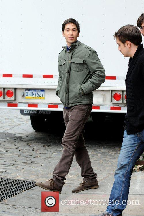 justin long filming on location in manhattan 3743486