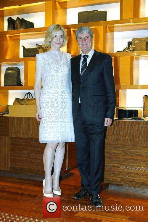Cate Blanchett and Louis Vuitton CEO Yves Carcelle...