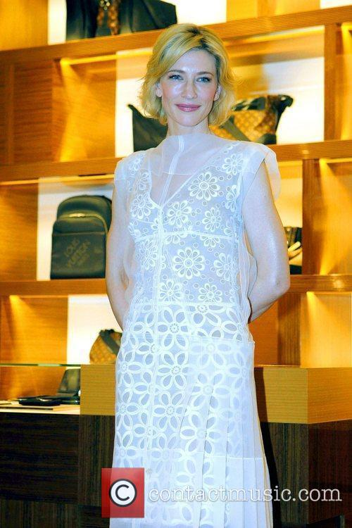 Cate Blanchett attends the opening of the Louis...