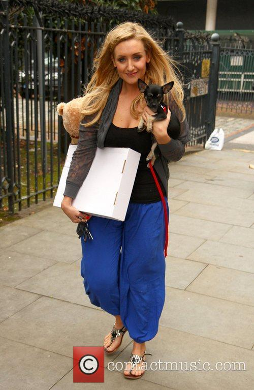 Catherine Tyldesley leaving the Granada studios with her...