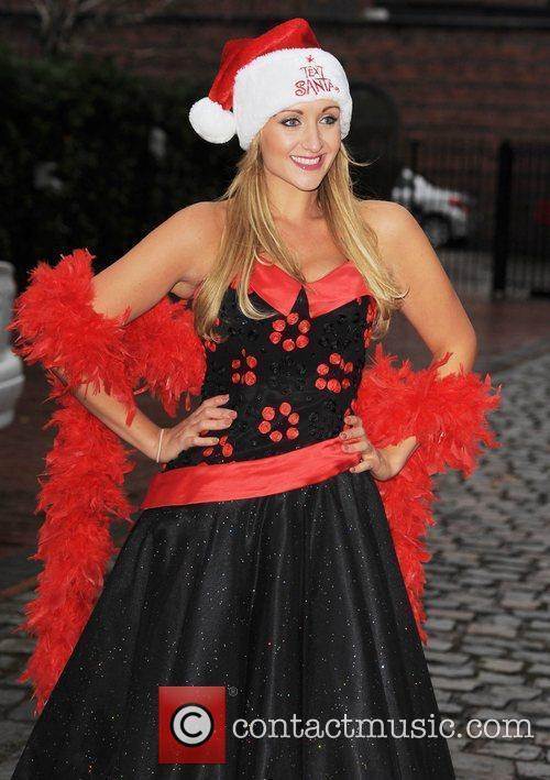 Catherine Tyldsley  dresses up as Mrs Christmas...