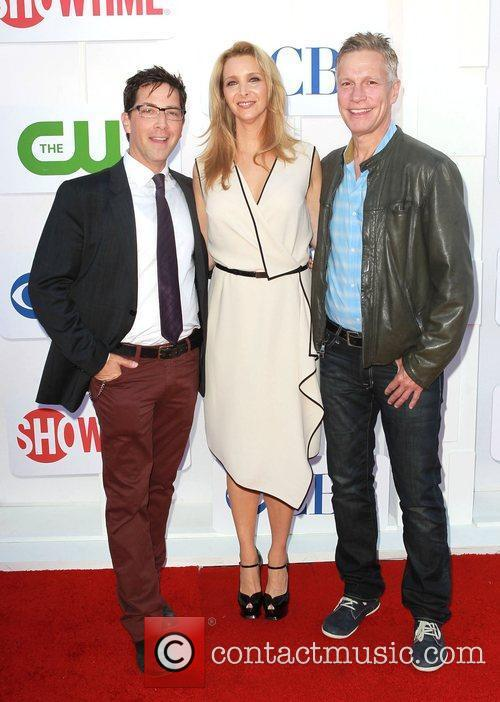 Dan Bucatinsky, Lisa Kudrow and guest CBS Showtime's...