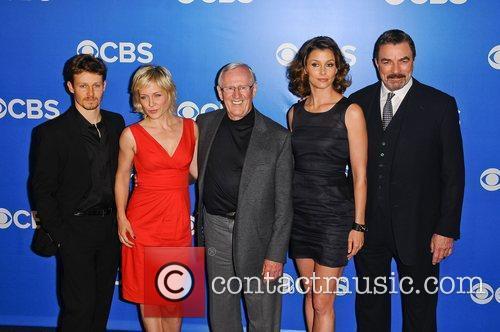 Will Estes, Bridget Moynahan, Len Cariou and Tom Selleck