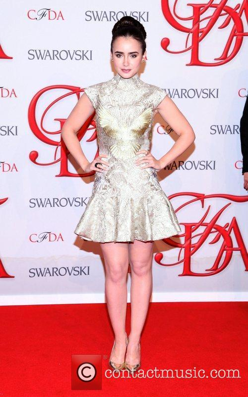 Lily Collins and Cfda Fashion Awards 1