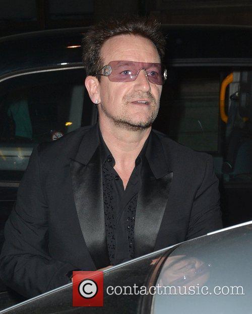 Bono  leaving Cecconi's restaurant  London, England