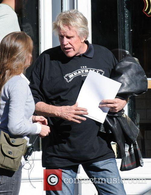 Gary Busey on the set of 'Celebrity Apprentice'...