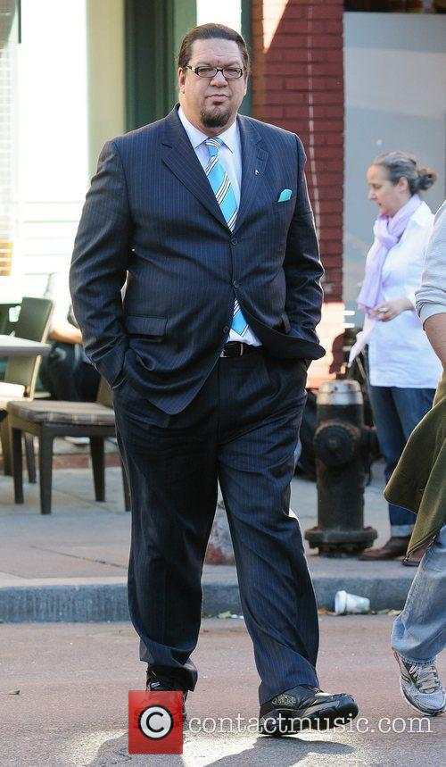 Penn Jillette on the set of 'Celebrity Apprentice'...