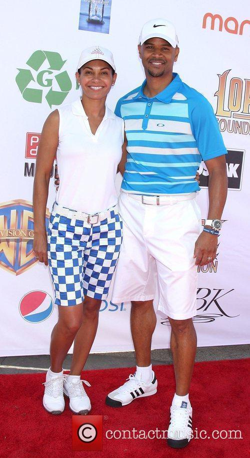 Salli Richardson, Dondre T Whitfield, George Lopez and Celebrity Golf Classic 1
