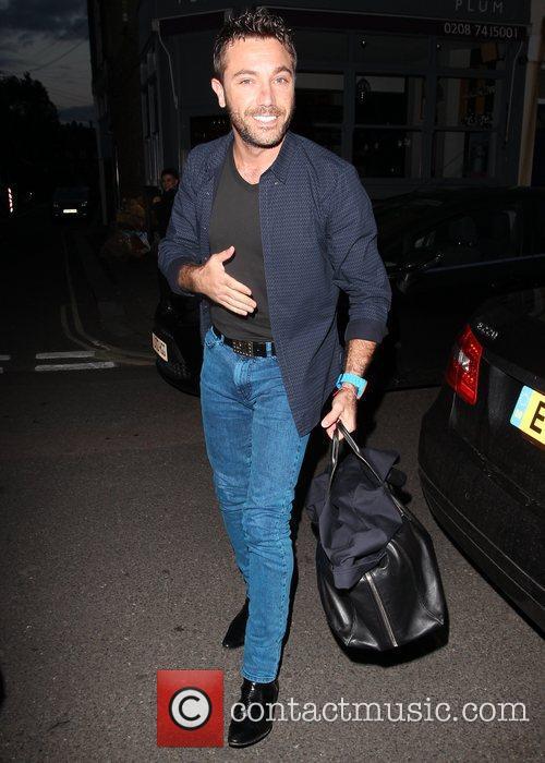 Gino D'Acampo Celebrities arrive at the Riverside studios...
