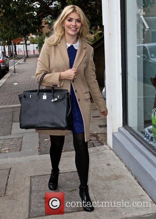 Holly Willoughby Celebrities arrive at the Riverside studios...