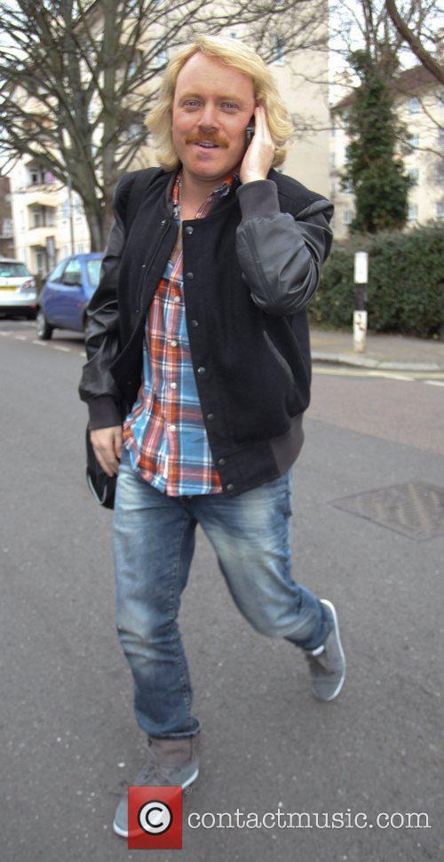 Arrives for 'Celebrity Juice' at Riverside Studios in...