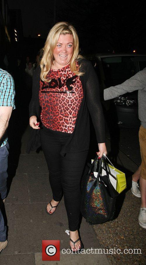 Leaving the Riverside studios after filming 'Celebrity Juice'