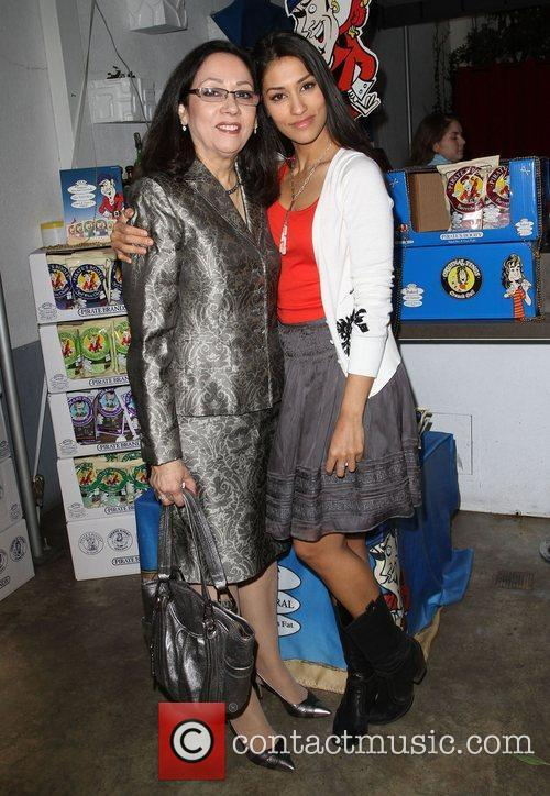 Janina Gavankar and her Mother 4th Annual Celebrity...