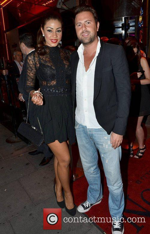 Layla Flaherty & boyfriend James Simpson,  arrive...