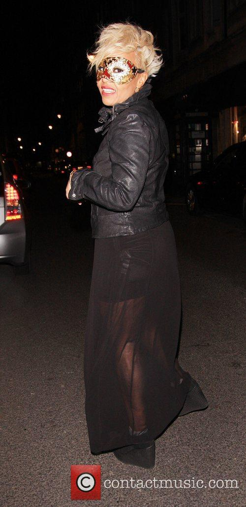 Emeli Sande Celebrities leaving Low Club after attending...