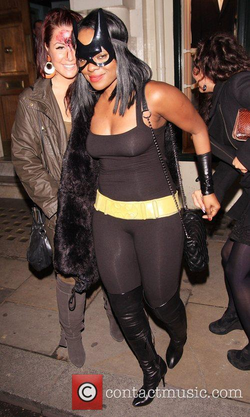 Keisha Buchanan Celebrities leaving Low Club after attending...