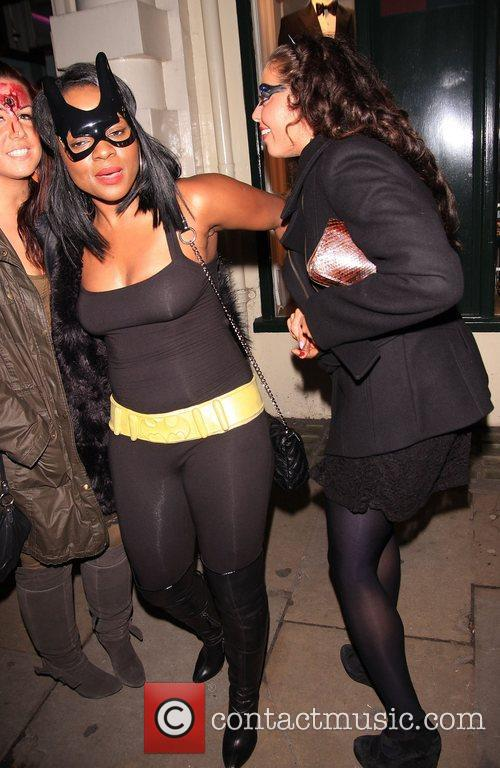 Celebrities leaving Low Club after attending the Angel...