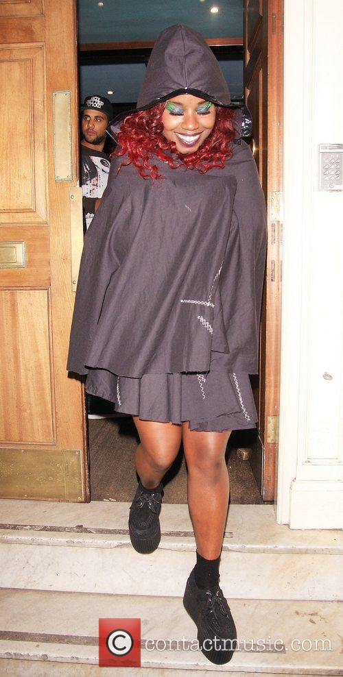 Misha B Celebrities leaving Low Club after attending...