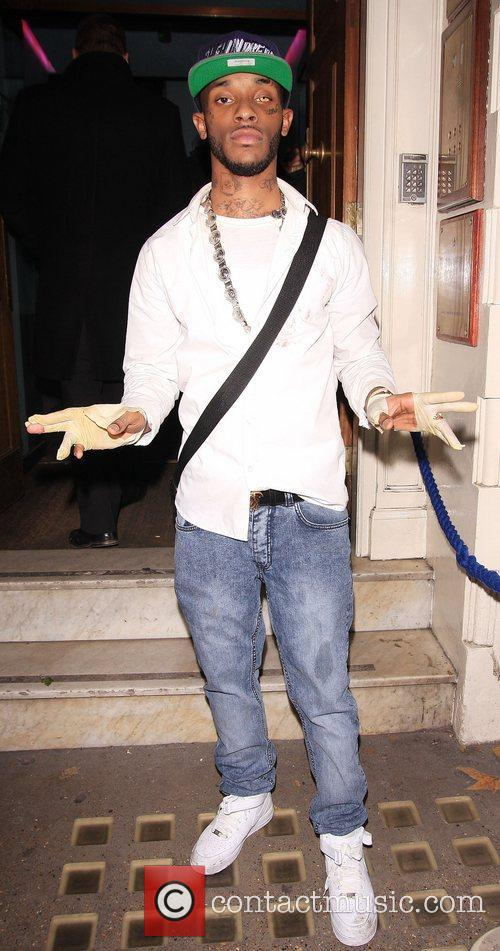 Rapper Angel Celebrities leaving Low Club after attending...