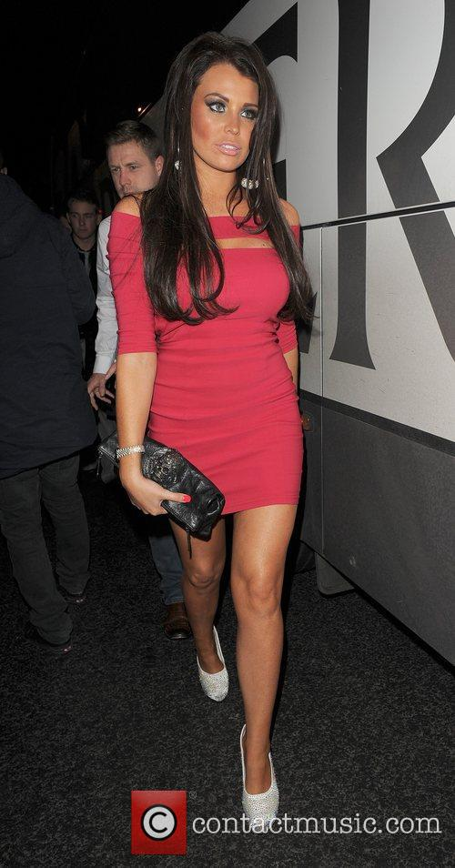 Jessica Wright arriving at Aura nightclub with a...