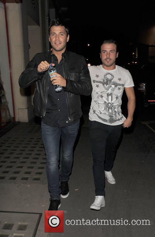 mark wright arriving at aura nightclub with 3647210
