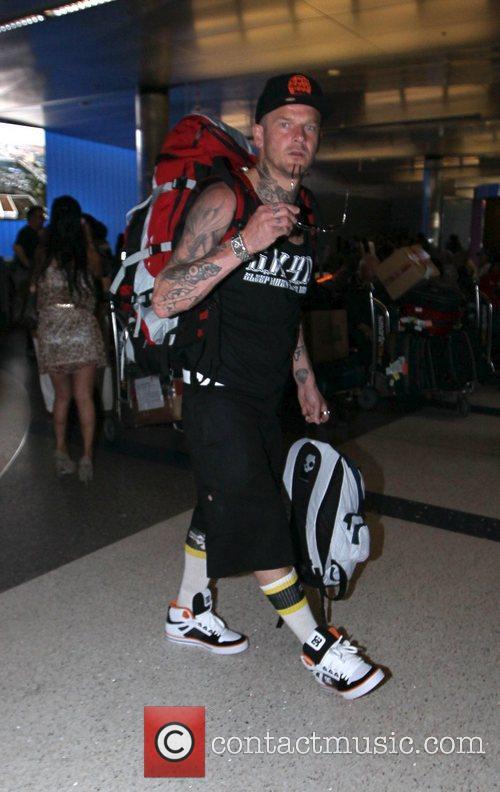 'Dirty Sanchez' Matthew Pritchard Celebrities seen at LAX...
