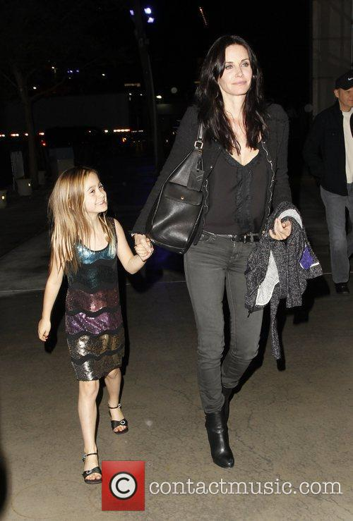 Courtney Cox and her daughter Coco Celebrities arrive...