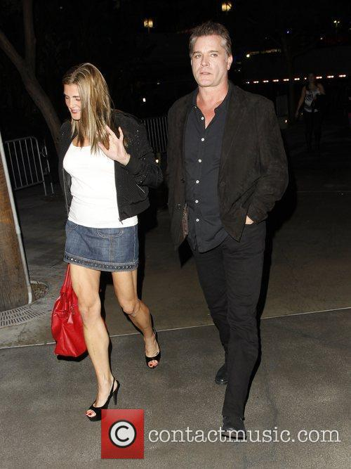 Ray Liotta Celebrities arrive at the Staples Center...