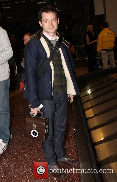 Elijah Wood Celebrities arrive at Salt Lake City...