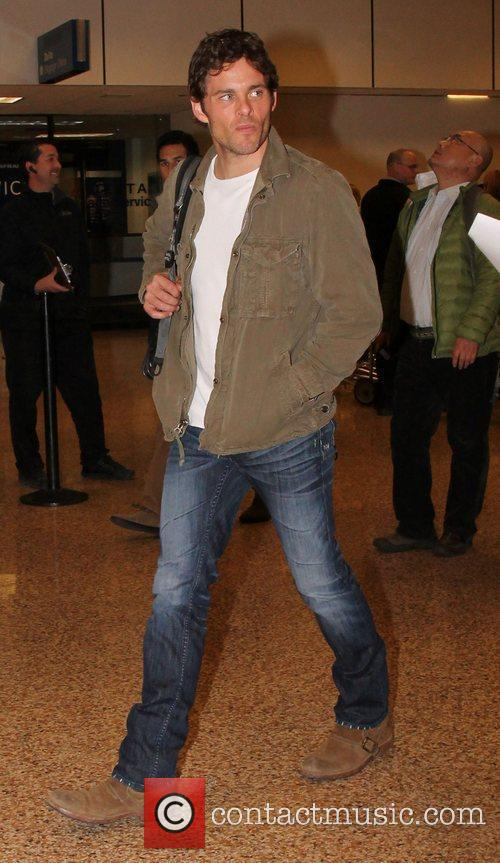 James Marsden Celebrities arrive at Salt Lake City...