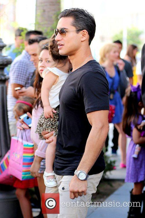 Mario Lopez Celebrities out and about at The...