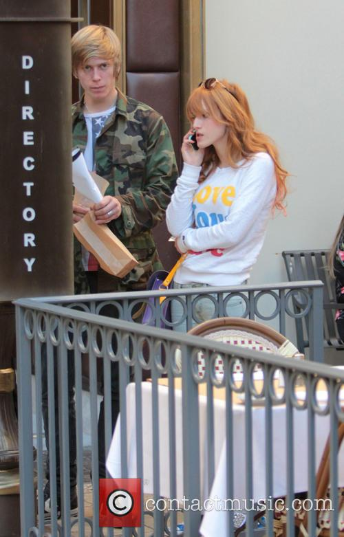 Bella Thorne; Tristan Klier Celebrities at The Grove...