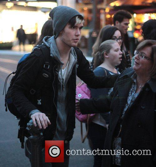 Colton Dixon shops at The Grove in Hollywood...