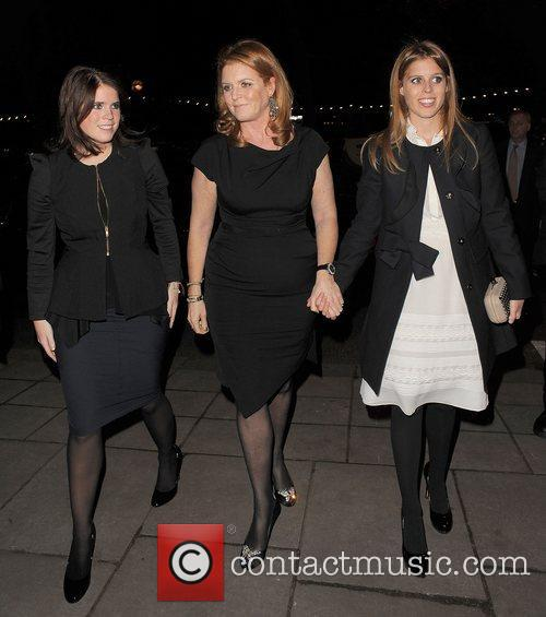 Princess Eugenie, Sarah Ferguson and Princess Beatrice 1