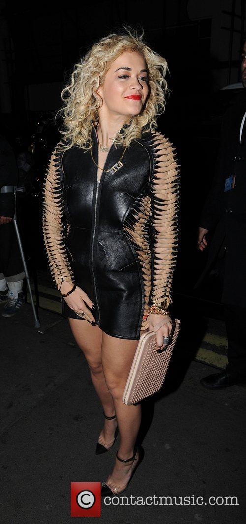Rita Ora arrives at Whiskey Mist to celebrate...
