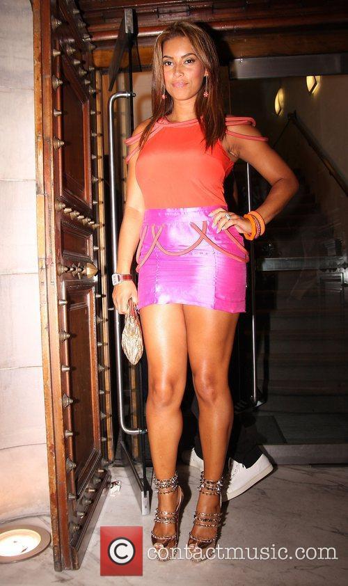 Chantel Tago leaving Aura Mayfair nightclub after attending...