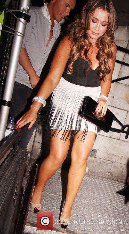 Lauren Goodger leaving Aura Mayfair nightclub after attending...