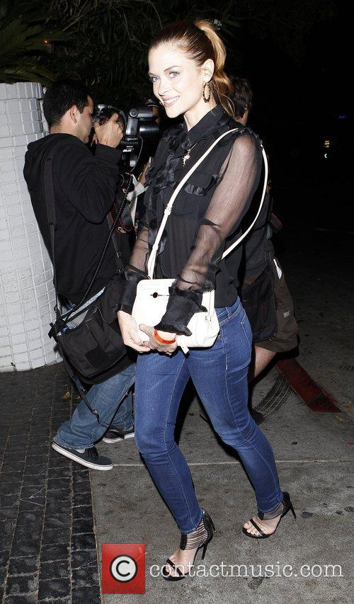 Arriving at Chateau Marmont restaurant in West Hollywood