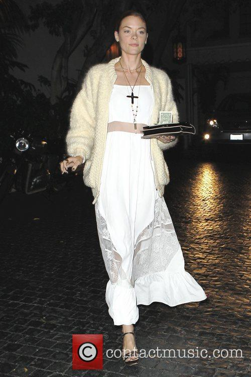 Leaving Chateau Marmont restaurant in West Hollywood