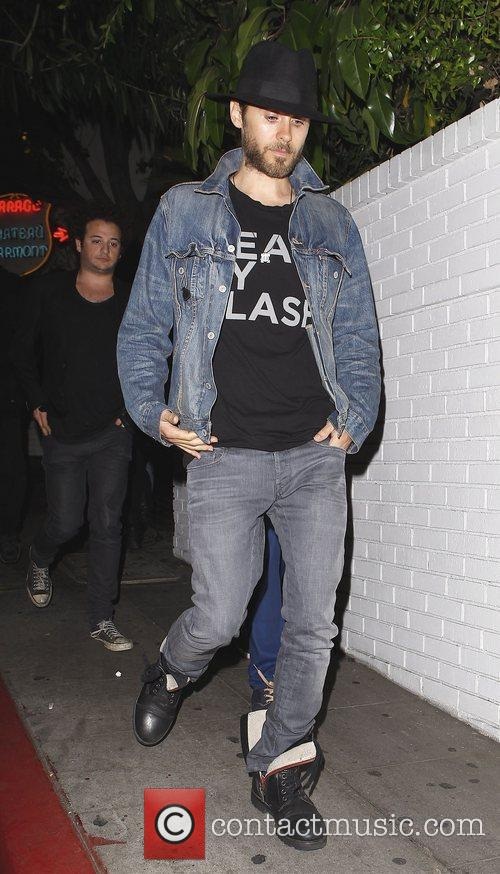 jared leto leaving chateau marmont restaurant in 3923864
