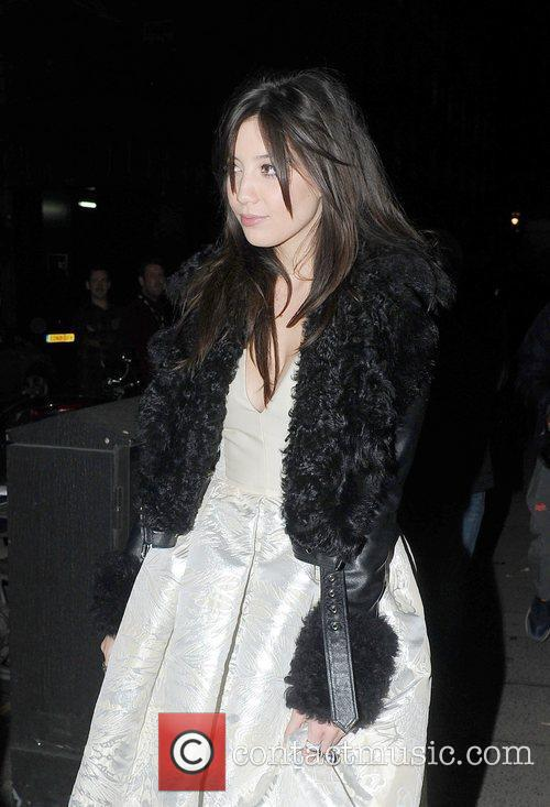 Daisy Lowe leaving the Designer Pudsey Collection 2012,...