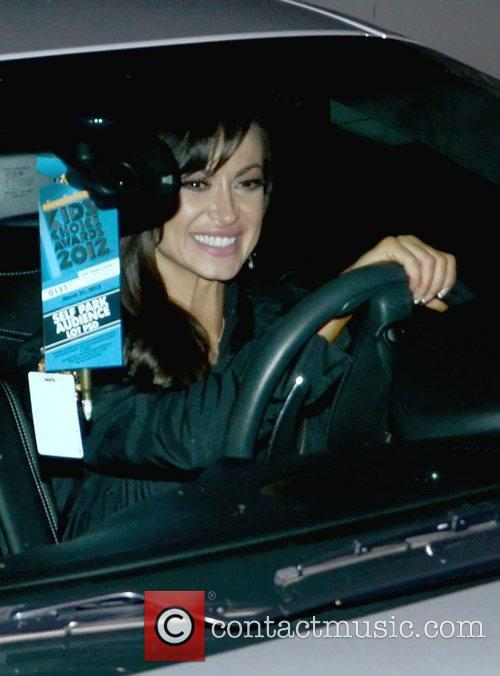 Karina Smirnoff  driving her car outside Colony...
