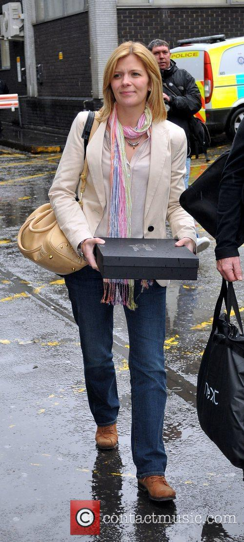 Jane Danson arrives at Euston Station to attend...