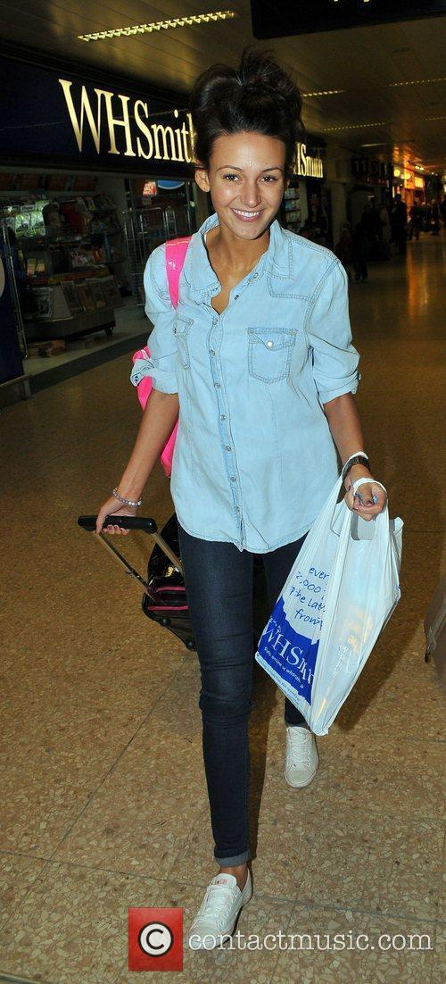 Michelle Keegan arrives at Euston Station to attend...