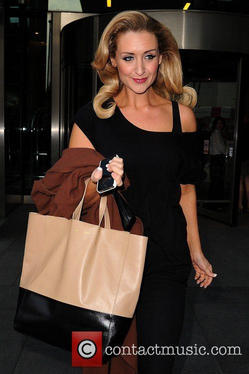 Catherine Tyldesley Celebrities outside the Hilton Hotel Manchester,...