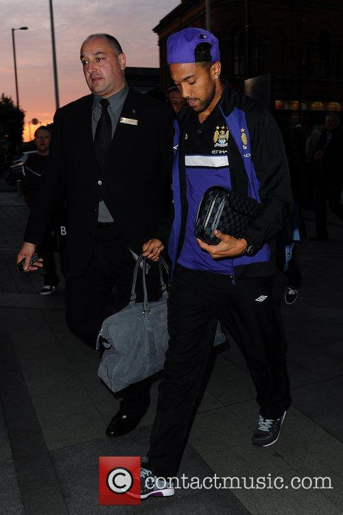 Gael Clichy Celebrities outside the Hilton Hotel Manchester,...